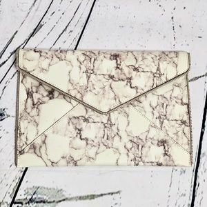 REBECCA MINKOFF Leo Envelope Clutch Marble